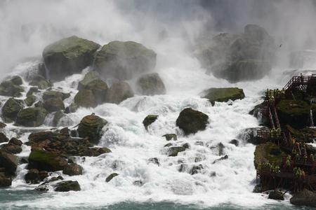 Niagra Falls small falls at USA side Фото со стока