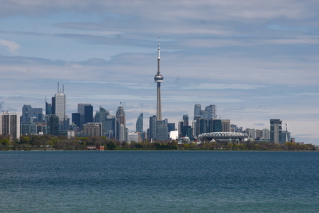 A view of downtown Toronto from Humberbay