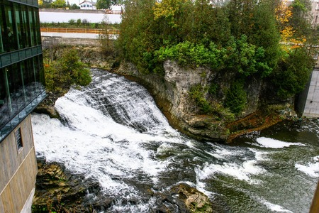 A view of the falls with the Tooth of Time