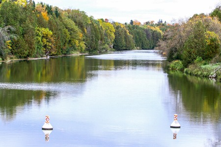 View of Grand river from the bridge
