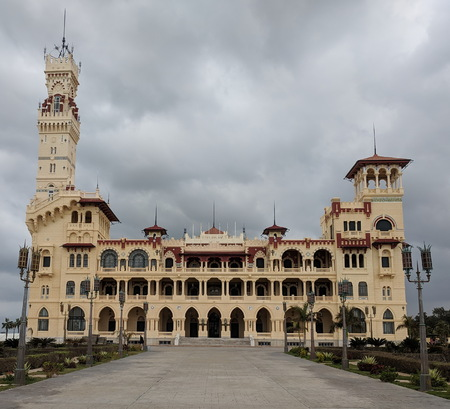 Montazah palace with the surrounding gardens
