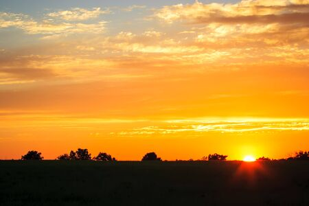 Midwest Spring Sunset Stok Fotoğraf