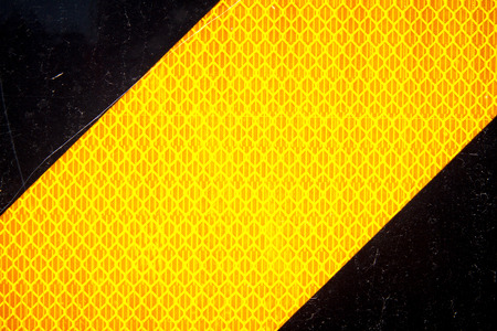 Closeup of End of Road Caution Sign