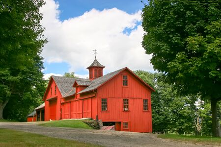 Red Massachusetts Country Barn