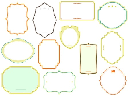 vector frames pack Stock Vector - 19650786
