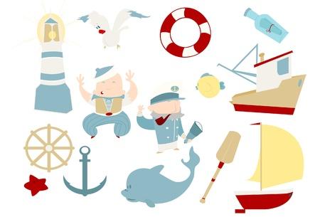 Sailor clip art pack