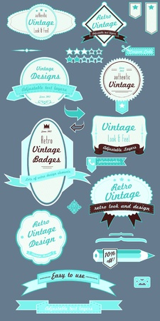 vector badges pack Stock Vector - 19876347