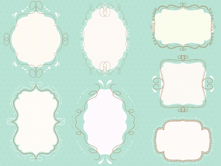 vector doodled frames pack