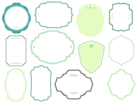 vector frames pack Illustration