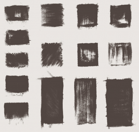 grunged: grunge vector textures brushes Illustration