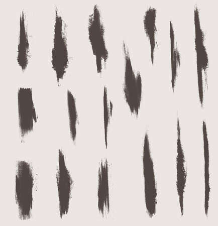 grunge vector textures brushes Illustration