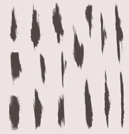 grunge vector textures brushes Illustration