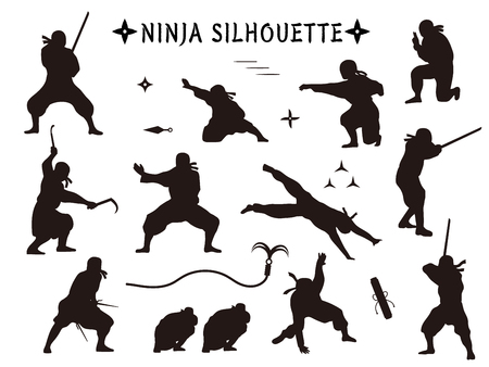Ninja silhouette Vektorové ilustrace