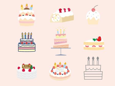 Cake set  イラスト・ベクター素材
