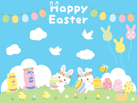 Easter set Illustration