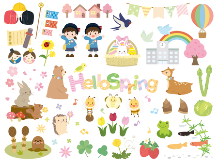 Spring set Stock Vector - 117199568