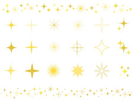 Sparkly shiny icon set