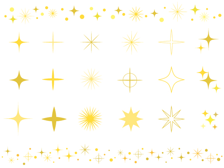 Sparkly shiny icon set
