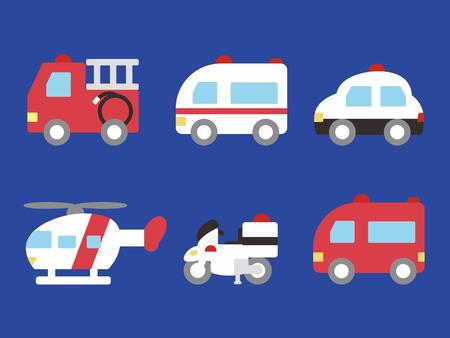 Emergency vehicle Stock Illustratie