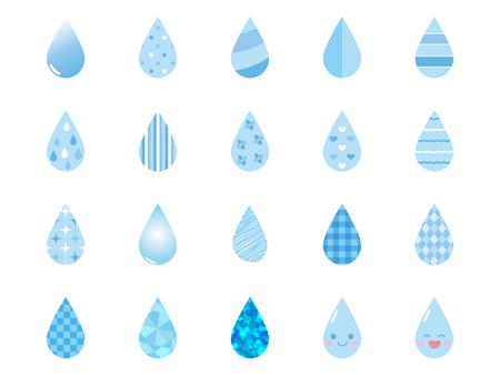 Rain drops Icon set