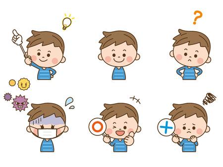 Boy facial expression