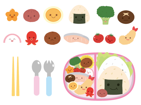 Lunch box set Illustration