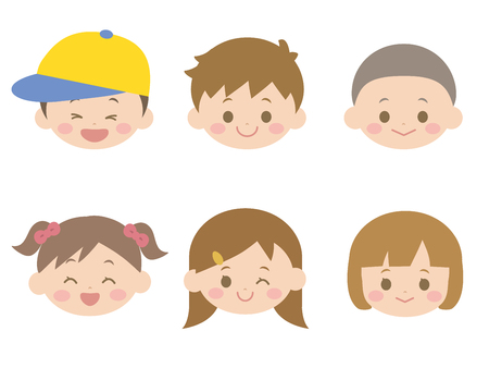 Kids icon set 向量圖像