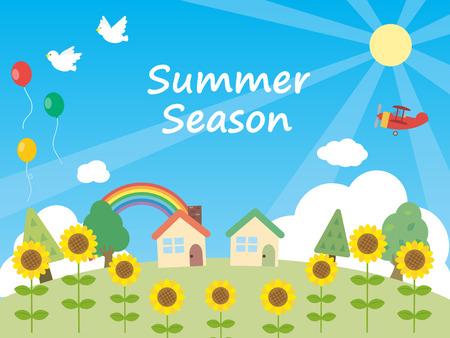 summer background illustration. Ilustração
