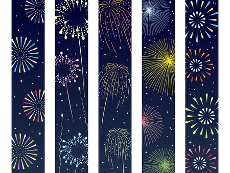Es una ilustración de un obi de Fireworks. Ilustración de vector
