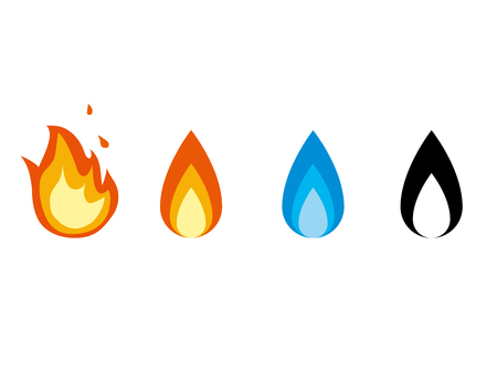 It is an illustration of a Fire icons.