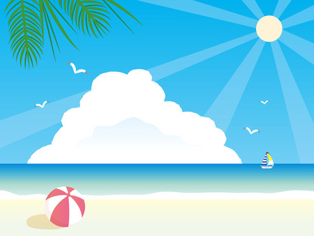 It is an illustration Summer Summer background.