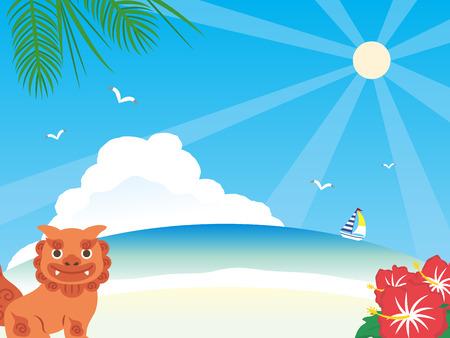 It is an illustration of Okinawa background. Illustration