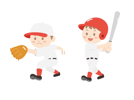It is an illustration of a Baseball player. Illustration