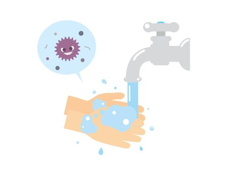 It is an illustration of a Hand wash.