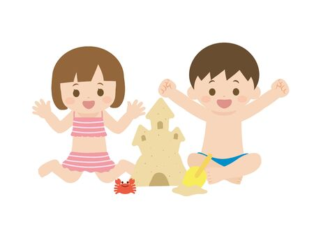 It is an illustration Summer kids.
