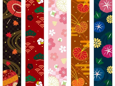 It is an illustration of a Japanese pattern.