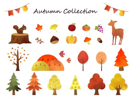It is an illustration of a Autumn collection.