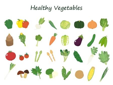 It is an illustration of a Vegetables set. Ilustração