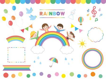 It is an illustration of a Rainbow set. Illustration