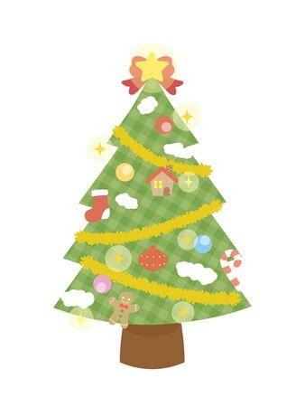 Es una ilustración de un árbol de Navidad.