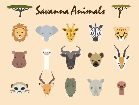 It is an illustration of Savanna animals. Illustration