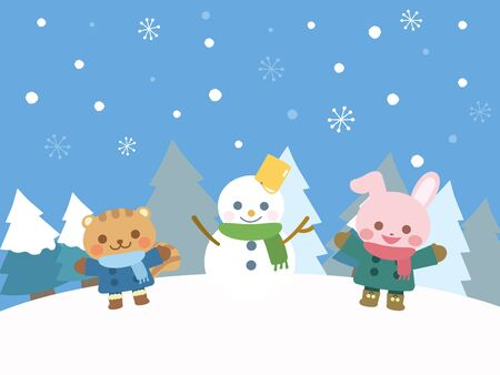 It is an illustration of a Winter illustration.
