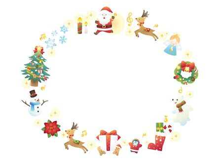 It is an illustration of a Christmas frame.