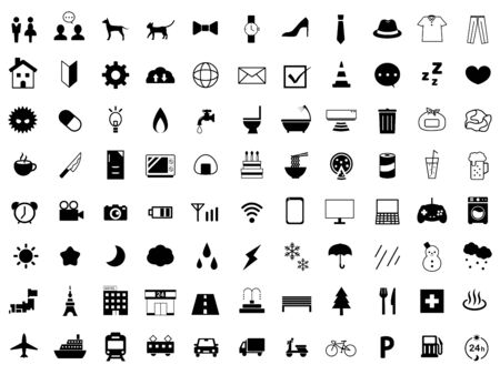 It is an illustration of a icon set.