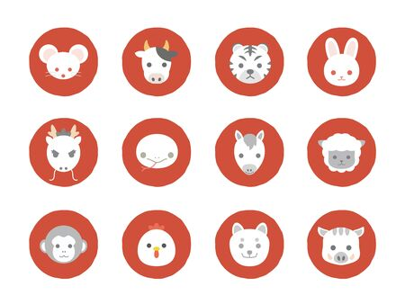 It is an illustration of a Japanese zodiac.
