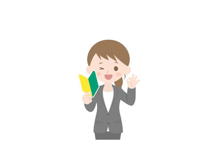 It is an illustration of a Woman beginner.