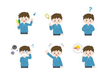 It is an illustration of a Boy set.