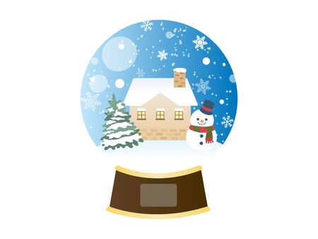 It Is An Illustration of a Snow Globe.