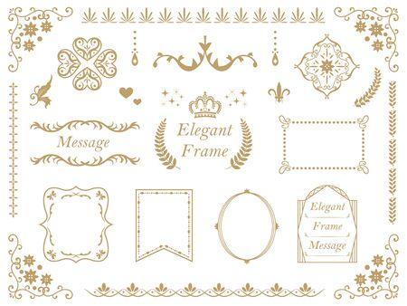 It is an illustration of an Elegant frame set. Banque d'images - 132054529