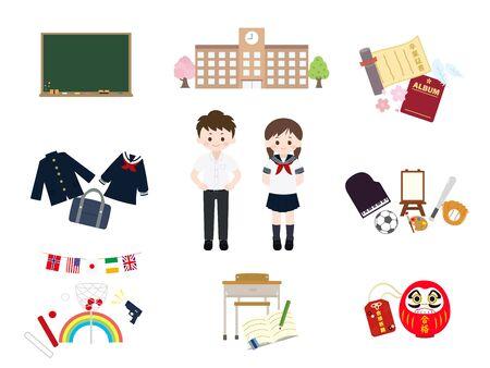 It is an illustration of a School set. Illustration